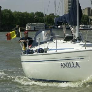 Flottielje zeilen naar Engeland